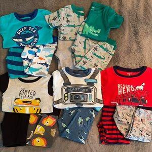 Carter's Cotton PJ Bundle Toddler Boy 3T 15 pieces